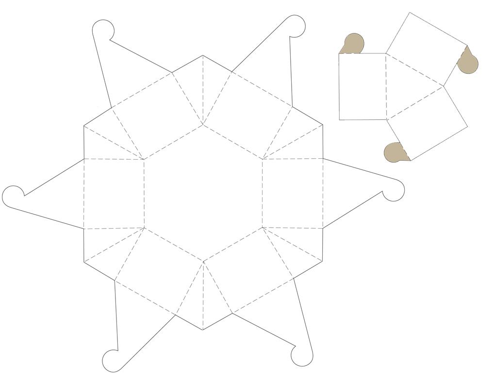 patron de la boite principale octogonale pour contenir les 6 autres boites qui contiendront les. Black Bedroom Furniture Sets. Home Design Ideas
